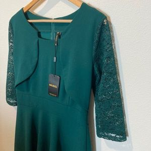 NWT Vintage Inspired Square Neck Cocktail dress
